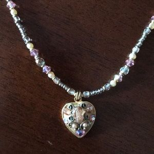 Jewelry - Michal Golan Jeweled Heart Necklace